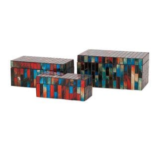 Barcelona Mosaic Glass Boxes (Set of 3)