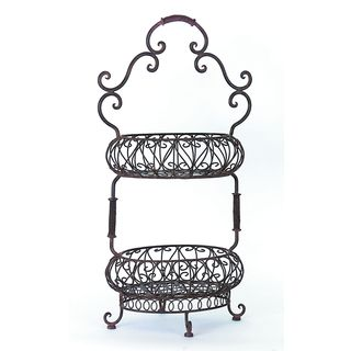 Two-Tiered Oval Baskets