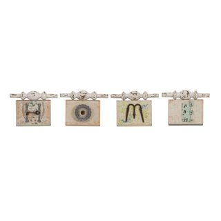 Ella Elaine Found Object Home Wall Plaques (Set of 4)