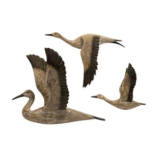 Reeds Migration Wood Wall Dcor (Set of 3)