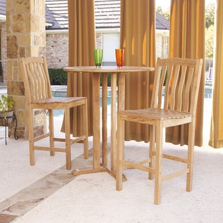 Harper Blvd 3-piece Teak Bar Set