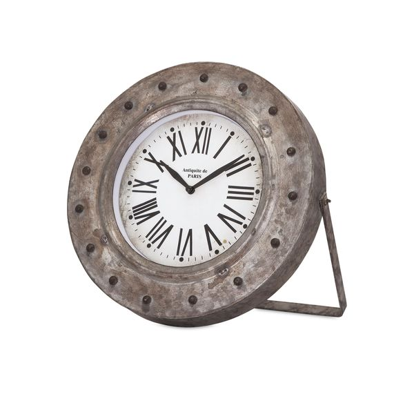Shop Mabrey Galvanized Desk Clock Free Shipping Today