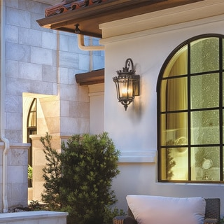 Troy Lighting Greystone 23-inch Forged Iron Outdoor Wall Light