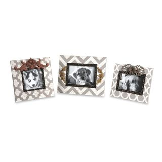 Chevron Photo Frames (Set of 3)