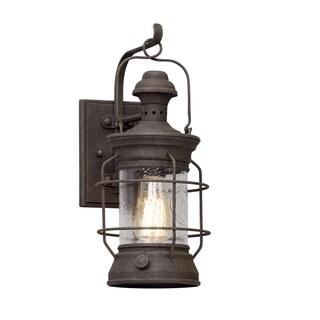Troy Lighting Atkins 16-inch Centennial Rust Outdoor Wall Light