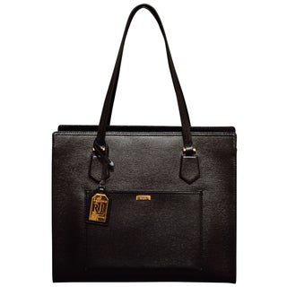 Ralph Lauren Lowell Black Tote Bag
