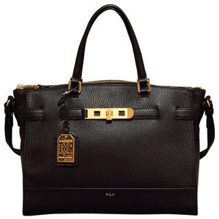Ralph Lauren Darwin Black Satchel Handbag
