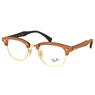 Ray-Ban RX 5154M 5560 Clubmaster Walnut Wood 51mm Eyeglasses