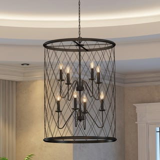 Quoizel Dury Cage Chandelier With 8 Lights