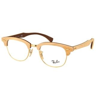 Ray-Ban RX 5154M 5558 Clubmaster Maple Wood 51mm Eyeglasses