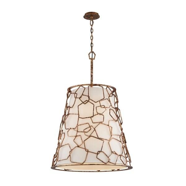 Troy Lighting Coda 8-light Copper Leaf Pendant