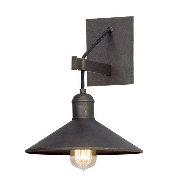 shop troy lighting mccoy vintage bronze wall sconce free shipping