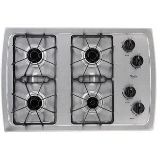 Whirlpool 30-Inch Stainless Steel Gas Cooktop