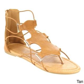 Beston Strappy Flat Thong Sandals