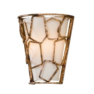 Troy Lighting Coda Antique Copper Leaf Wall Sconce