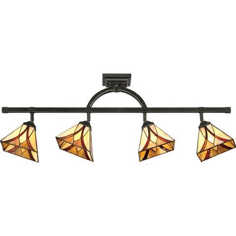 Quoizel Asheville Tiffany-style Fixed-track Light