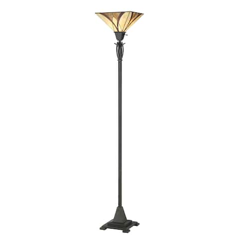 Quoizel Asheville Tiffany-style Torchiere