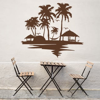 Beach and palm trees Vinyl Wall Art Decal