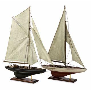 Antiqued Sailing Vessels - Set of 2