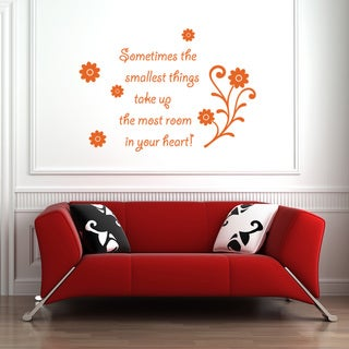 Smallest Things Vinyl Wall Art Decal quotes and sayings