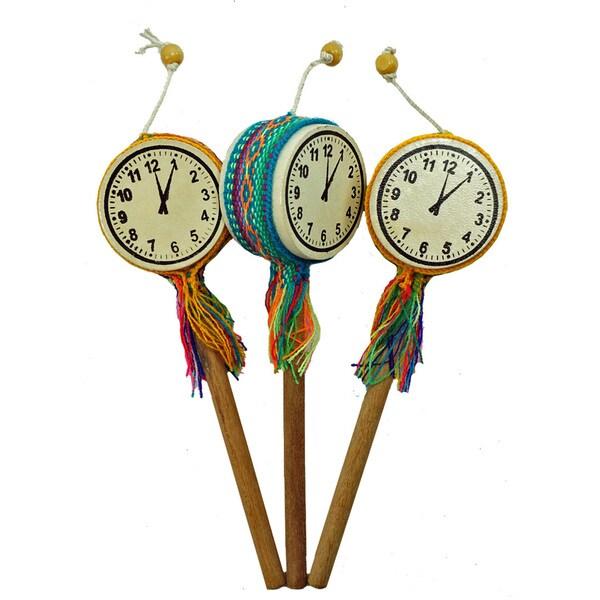 Handmade Tic-Toc-Clock Drum - Single (Peru)
