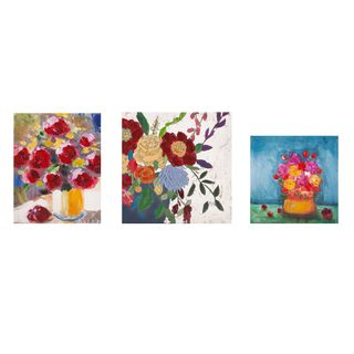 Miniature Floral Gallery Art - Set of 3