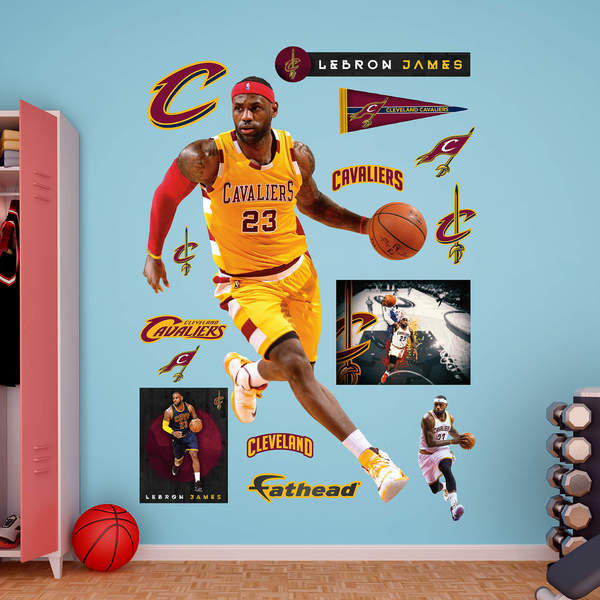 9628d1e65c1f Shop Fathead LeBron James Gold Throwback - Free Shipping Today ...