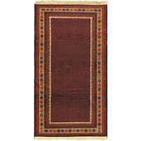 eCarpetGallery Hand-knotted Finest Rizbaft Red Wool Rug (3'5 x 6'3)