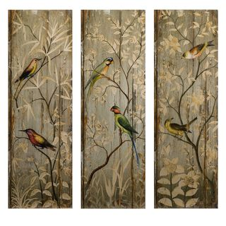 Calima Bird Wall Décor - Set of 3