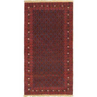 eCarpetGallery Hand-knotted Finest Rizbaft Red Wool Rug (3'6 x 6'8)