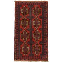eCarpetGallery Hand-knotted Kazak Red Wool Rug (3'3 x 6'7)