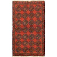 eCarpetGallery Bahor Hand-knotted Red Wool Rug (3'8 x 6'4)