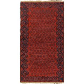 eCarpetGallery Herati Hand-knotted Red Wool Rug (3'4 x 6'6)