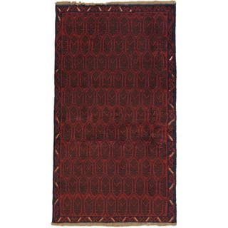 eCarpetGallery Hand-knotted Bahor Red Wool Rug (3'4 x 6'2)