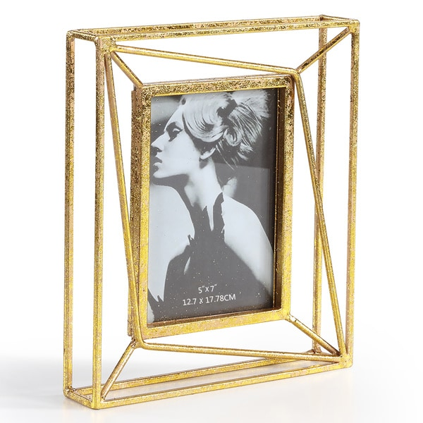 Shop Danya B. Sparkling Gold Geometric 5 x 7 Photo Frame - Free ...