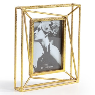 Danya B. Sparkling Gold Geometric 5 x 7 Photo Frame