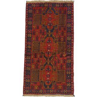 eCarpetGallery Kazak Hand-knotted Red Wool Rug (3'7 x 6'5)