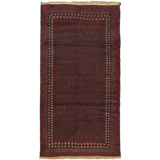 eCarpetGallery Red Herati Hand-knotted Wool Rug (3'4 x 6'8)
