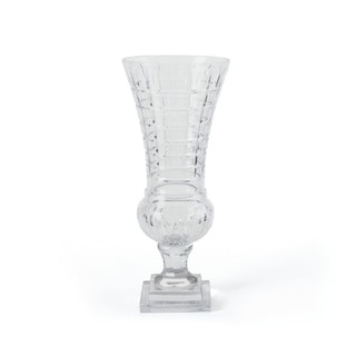 Clear Cut Glass Table Vase