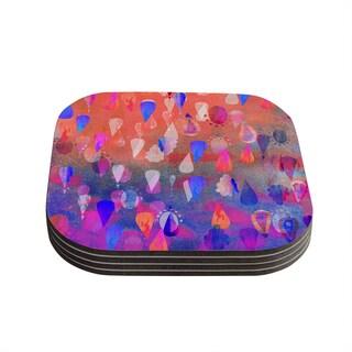 Kess InHouse Nikki Strange 'Bindi Dreaming' Blue Pink Coasters (Set of 4)
