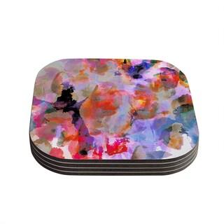 Kess InHouse Nikki Strange 'Painterly Blush' Coasters (Set of 4)