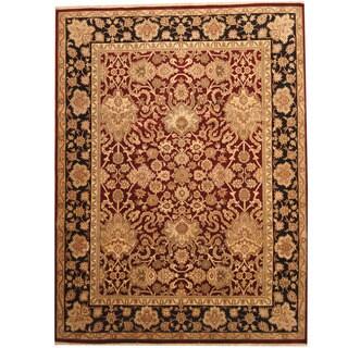 Herat Oriental Indo Hand-knotted Khorasan Wool Rug (9'2 x 12'2)
