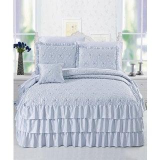 Serent Matte Satin Ruffle Bedspread Set