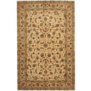 Herat Oriental Indo Hand-tufted Tibetan Wool and Silk Rug (5'9 x 8'9)