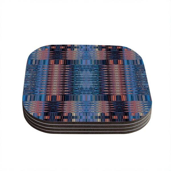 Kess Inhouse Nina May Larina Nueva Sky Blue Orange Coasters Set Of 4 Free Shipping On Orders Over 45 11802612