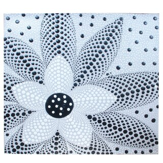Fair Trade Handmade Dot Design Canvas (Indonesia)