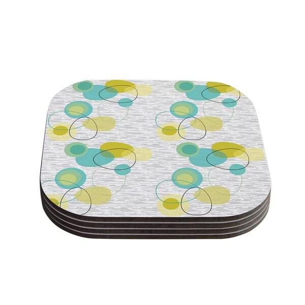 Kess InHouse Nina May 'Vaniretro' Coasters (Set of 4)