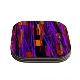 Kess InHouse Nina May 'Threads' Coasters (Set of 4)