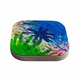 Kess InHouse NL Designs 'Splatter Stars' Abstract Painting Coasters (Set of 4)