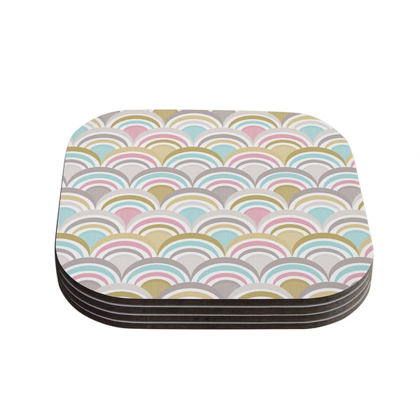 Kess InHouse Nicole Ketchum 'Art Deco Delight' Coasters (Set of 4)
